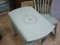 Drop Leaf Table with Charro Scucco stencil