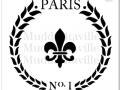 M0004_ Paris Fleur de Lis Wreath