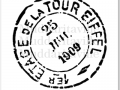 M0011_Tour Eiffel Postal Cancellation Mark
