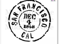M0012_San Francisco Postal Cancellation Mark