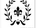 M0037_Fleur de lis wreath