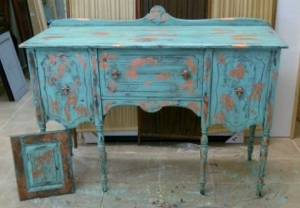 Completed 1915 Sideboard in Provence  style