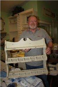 Barry with his finished plate rack