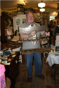 Barry with his plate rack