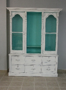 Cabinet with doors installed