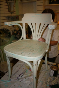 Margarets finished chair