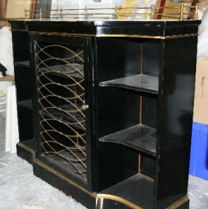Small+cabinet+brass+grills+with+brass+rail+on+the+top