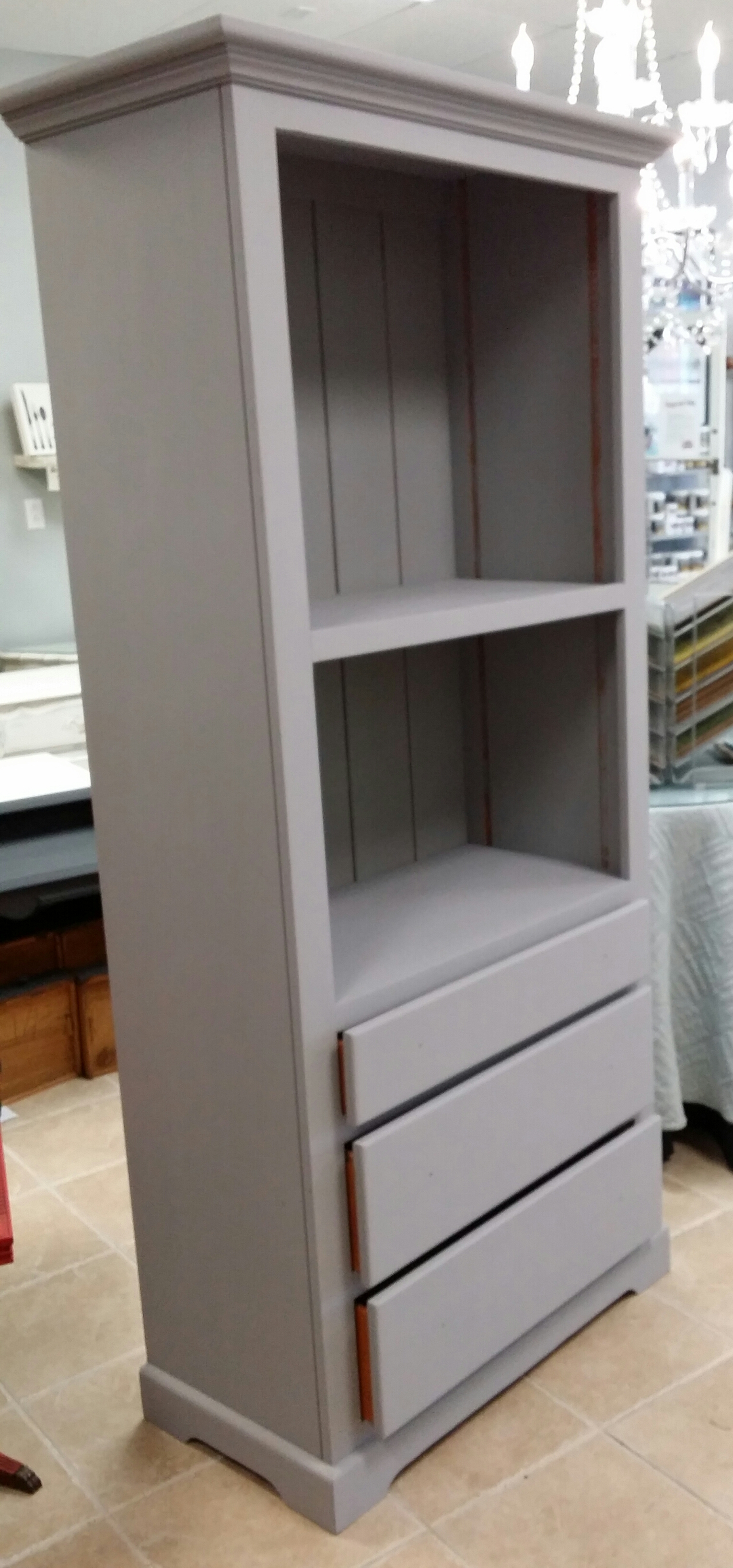 Grey colour coat of cabinet
